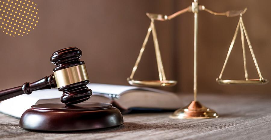 imagem do símbolo da justiça e lei