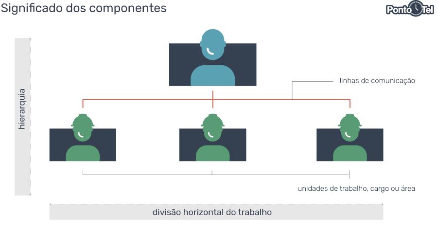 organograma de uma empresa componentes