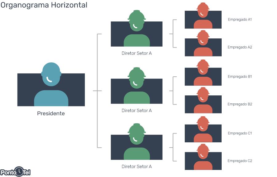 organograma de uma empresa horizontal - Como Montar um Organograma para sua Empresa? Confira os Modelos