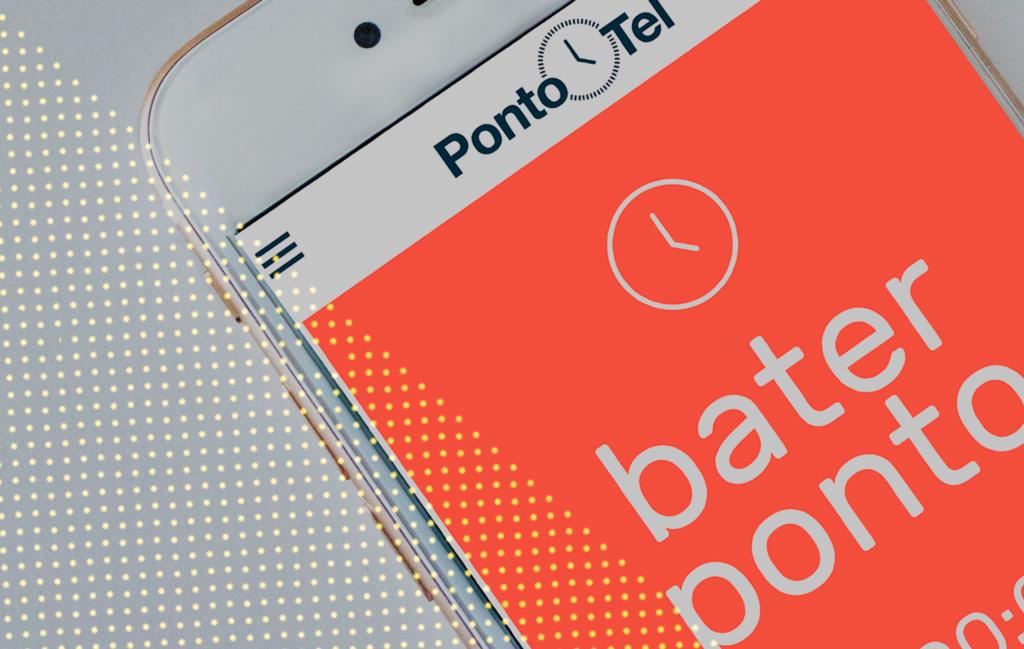 imagem tela de bater ponto app pontotel